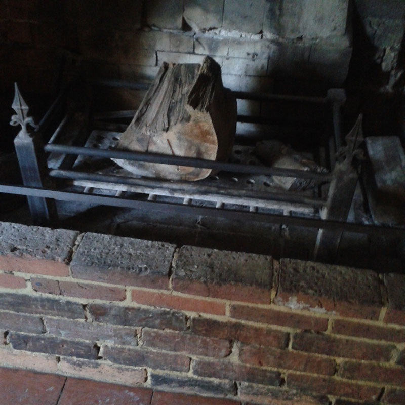 fireplace after chimney sweep