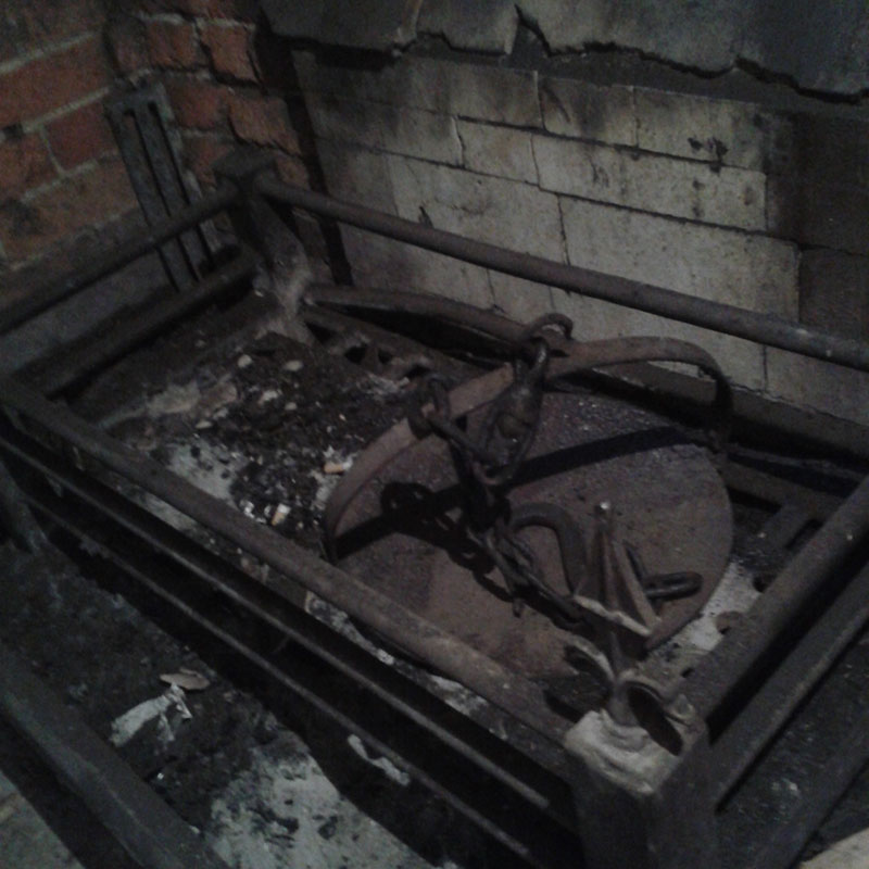 fireplace before chimney sweep