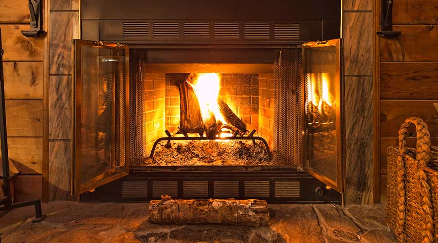 clean fireplace chimney in Reading